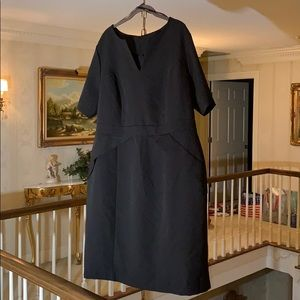 Eloquii Black Dress with Flattering Seaming